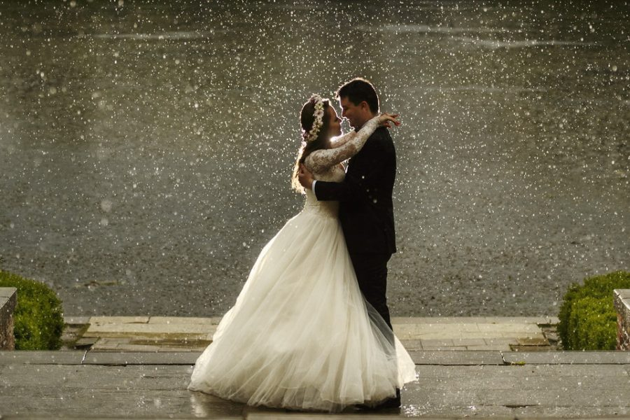 rain at the wedding